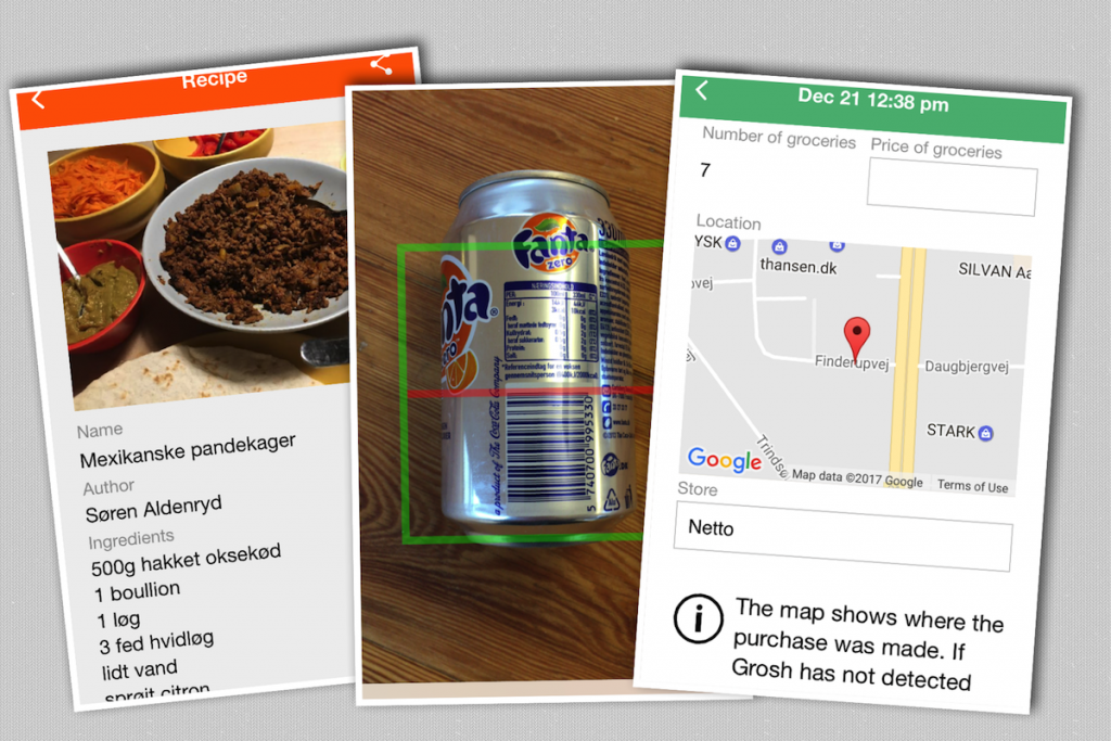 scan grocery barcode to add item to the shoppinglist