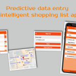 Predictive data entry in intelligent shopping list app