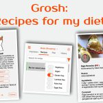Grocery app Grosh with recipes for my diet