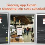 Grocery app Grosh with shopping trip cost calculation