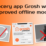 Grocery app Grosh with improved offline mode